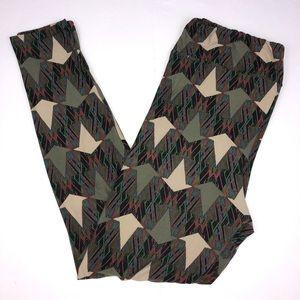 LuLaRoe Pants - LuLaRoe geometric print leggings  Tall & Curvy